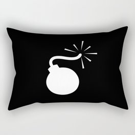 BLACK & WHITE BOMB DIGGITY Rectangular Pillow