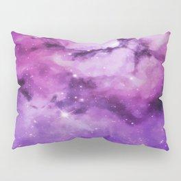 Mystical Purple Nebula Galaxy Pillow Sham