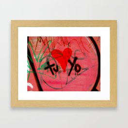 Graffiti - Lima, Peru Framed Art Print
