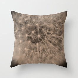 Macro Dandelion Fine Art Photography Throw Pillow