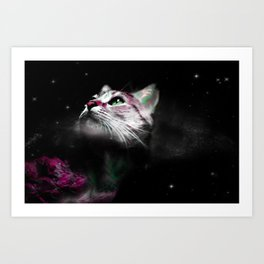 Supernova of the Ethereal Cat Art Print