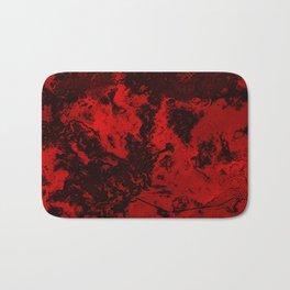 Marble-Red Bath Mat