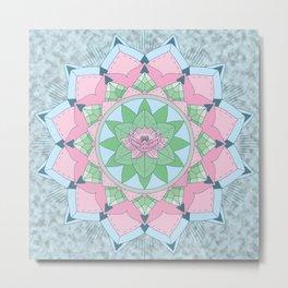 [Mandala] Lotus Pond Metal Print