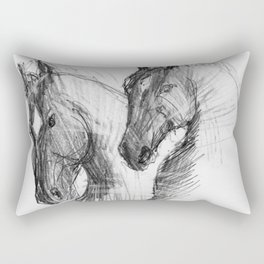 Horses (Marvari brothers) Rectangular Pillow