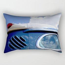 VINTAGE - Cool Vintage Classic Blue Bus Rectangular Pillow