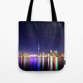 Toronto Vibrant nightscape Tote Bag