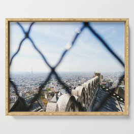 View of the Eiffel Tower from Sacré-Cœur Serving Tray