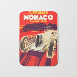Monaco Grand Prix 1930 - Vintage Poster Bath Mat