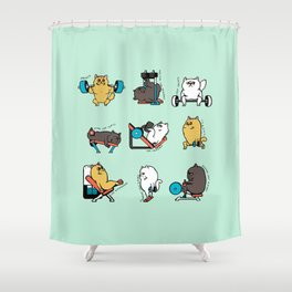 Leg Day with Persian Cat Shower Curtain