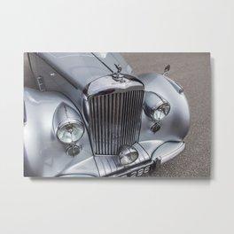 Vintage Car Photography   Gift for Him   Christmas Metal Print
