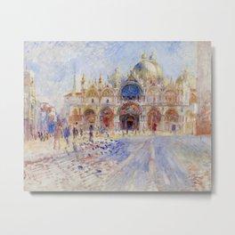 Auguste Renoir - The Piazza San Marco in Venice Metal Print