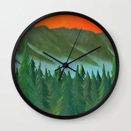 Mountain Sunset 2 Wall Clock