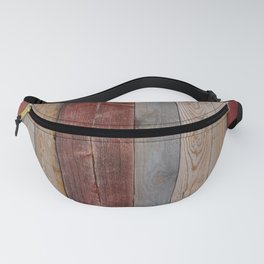 Decorative wood wall Fanny Pack
