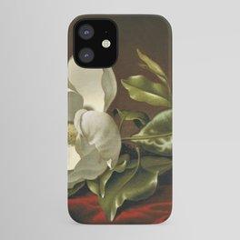 """""""Magnolia Grandiflora,"""" 1885 by Martin Johnson Heade iPhone Case"""