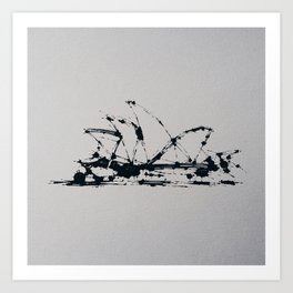 Splaaash Series - Sydney Ink Art Print