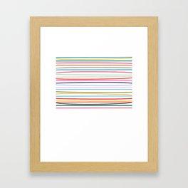 Carnival Stripe Framed Art Print