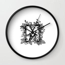 Leafy M Wall Clock