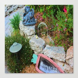 Nap in the Garden, California Style Canvas Print