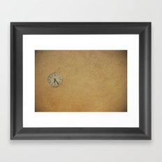 Time up!! Framed Art Print