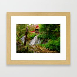 The Clifton Mill and Waterfall - Clifton Ohio Framed Art Print