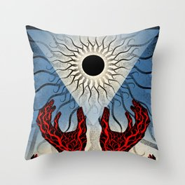 A Sun That Never Sets (color) Throw Pillow