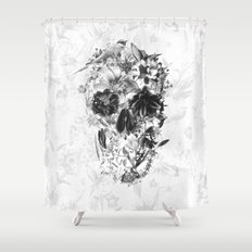 New Skull Light B&W Shower Curtain