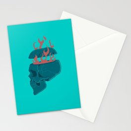 Skull 'n Flames Stationery Cards