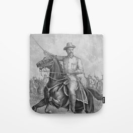Colonel Theodore Roosevelt On Horseback Tote Bag