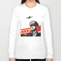 soviet Long Sleeve T-shirts featuring SOVIET RED ARMY by Sofia Youshi
