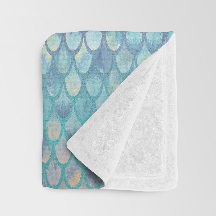 Spring Mermaid Scales Throw Blanket