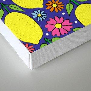 Lemons & Flowers Canvas Print