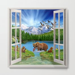 Window to the Great Bear Wilderness Metal Print