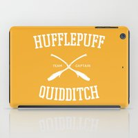 quidditch iPad Cases featuring Hogwarts Quidditch Team: Hufflepuff by IA Apparel