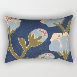 Blue Perennial Rectangular Pillow