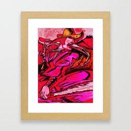 JIBARO SAMURAI-ESCAPE FROM THE CHIZWITCH MOUNTAIN Framed Art Print
