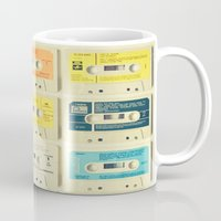 retro Mugs featuring All Tomorrow's Parties by Cassia Beck