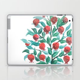 Persephone- Pomegranate Tree on White Laptop & iPad Skin