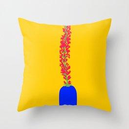 Salvia Nemorosa Nevrosa Throw Pillow