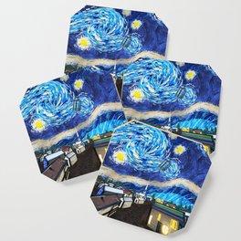 Tardis Art Starry City Night Coaster