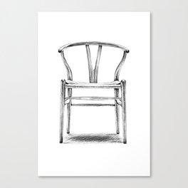 Hans Wegner - Wishbone Chair Canvas Print