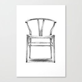 Hans Wegner - Wishbone Chair Canvas Print