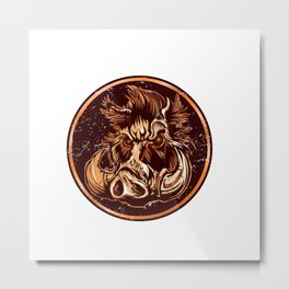 illustration of a Boar Metal Print