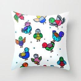 MY LITTLE BIRDS Throw Pillow