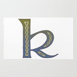 Celtic Knotwork Alphabet - Letter K Rug