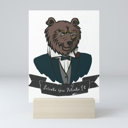 Clever Bear Mini Art Print