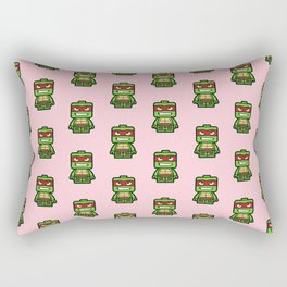 Chibi Raphael Ninja Turtle Rectangular Pillow