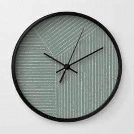 Lines (Linen Green) Wall Clock
