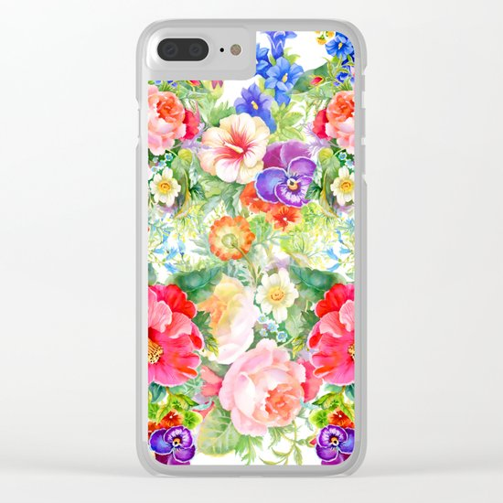FLOWERS XI Clear iPhone Case