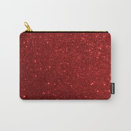 Deep Red Valentine Glitter Carry-All Pouch