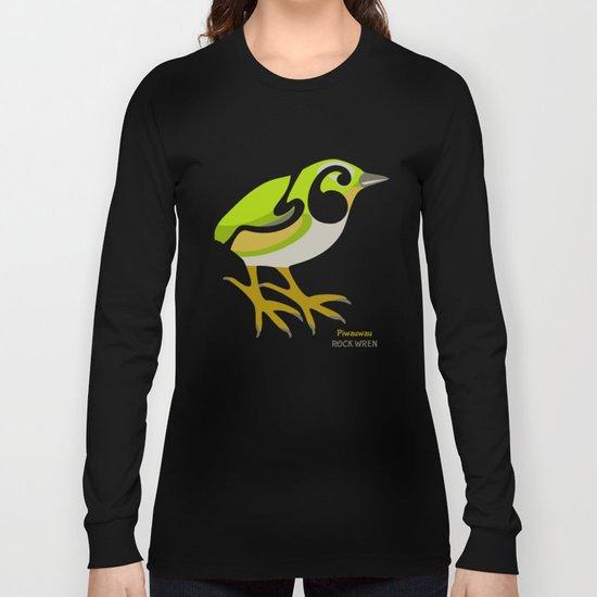 Rock Wren New Zealand Bird Long Sleeve T-shirt